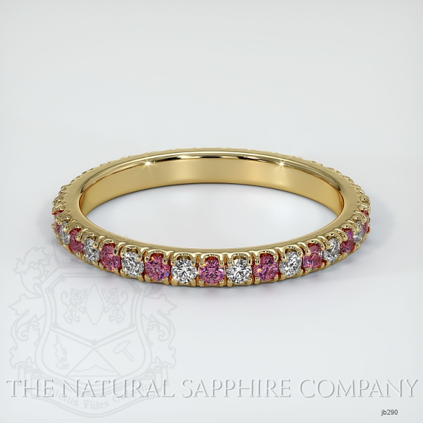 Eternity Pink Sapphire And Diamond Wedding Band JB290 Image