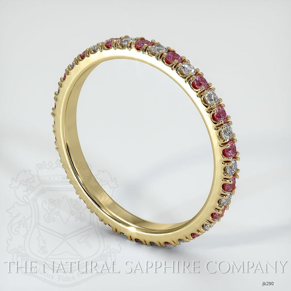 Eternity Pink Sapphire And Diamond Wedding Band JB290 Image 2