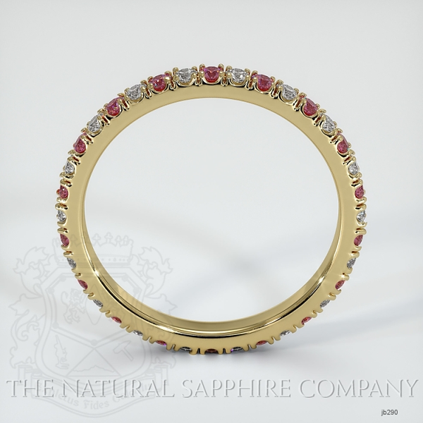 Eternity Pink Sapphire And Diamond Wedding Band JB290 Image 3