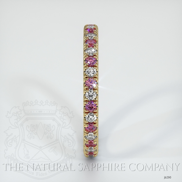 Eternity Pink Sapphire And Diamond Wedding Band JB290 Image 4