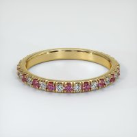 18K Yellow Gold Gemstone Band - JB290Y18