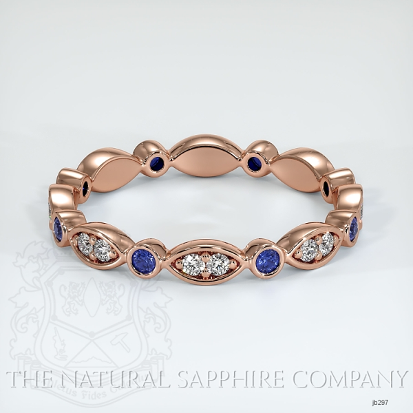 Tiara Eternity Blue Sapphire And Diamond Wedding Band JB297 Image