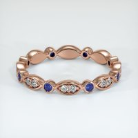 14K Rose Gold Gemstone Band - JB297R14