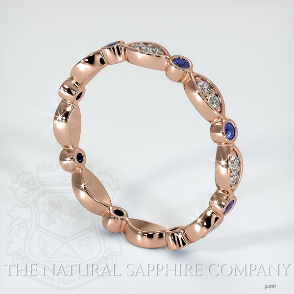 Tiara Eternity Blue Sapphire And Diamond Wedding Band JB297 Image 2