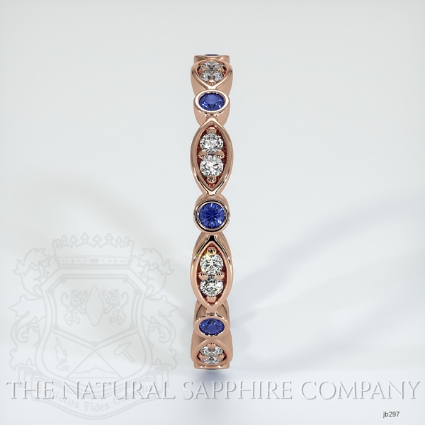 Tiara Eternity Blue Sapphire And Diamond Wedding Band JB297 Image 4