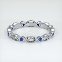 14K White Gold Gemstone Band - JB297W14