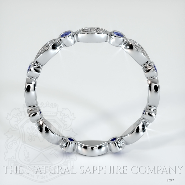 Eternity Blue Sapphire And Diamond Wedding Band JB297 Image 3