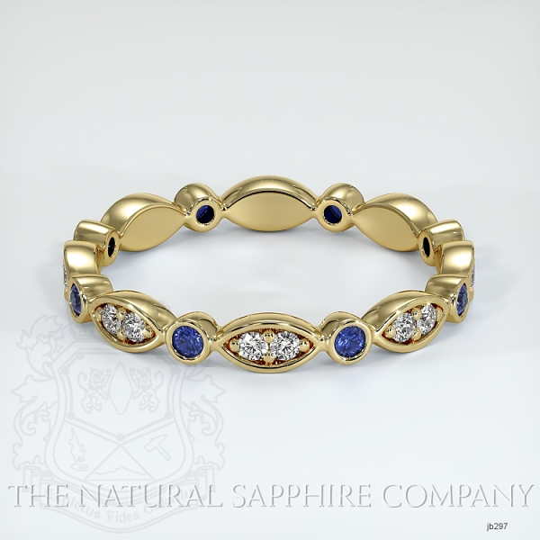 Eternity Blue Sapphire And Diamond Wedding Band JB297 Image