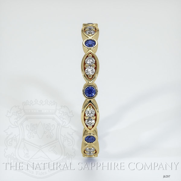 Eternity Blue Sapphire And Diamond Wedding Band JB297 Image 4