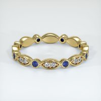 18K Yellow Gold Gemstone Band - JB297Y18