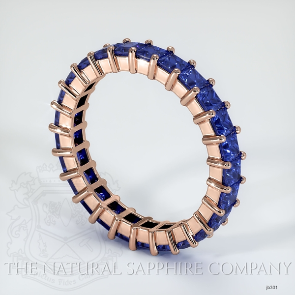 Princess Cut Prong Set Blue Sapphire Eternity Band JB301 Image 2