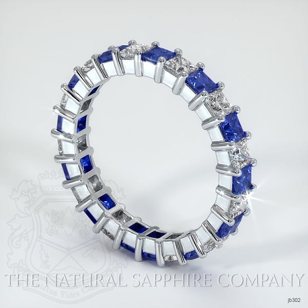 Princess Cut Prong Set Blue Sapphire And Diamond Eternity Band JB302 Image 2