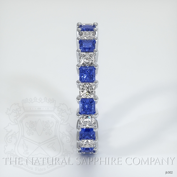 Princess Cut Prong Set Blue Sapphire And Diamond Eternity Band JB302 Image 4