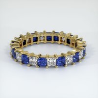 18K Yellow Gold Gemstone Band - JB302Y18