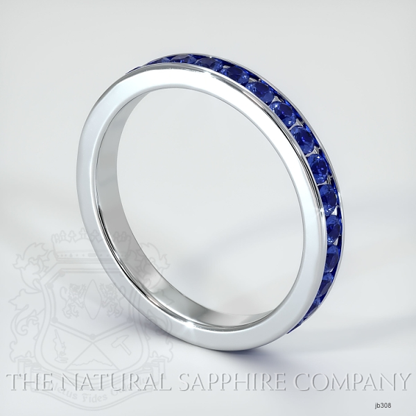 Channel Set Blue Sapphire Eternity Wedding Band JB308 Image 2