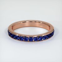 14K Rose Gold Gemstone Band - JB308R14