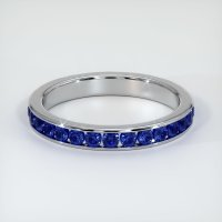 14K White Gold Gemstone Band - JB308W14