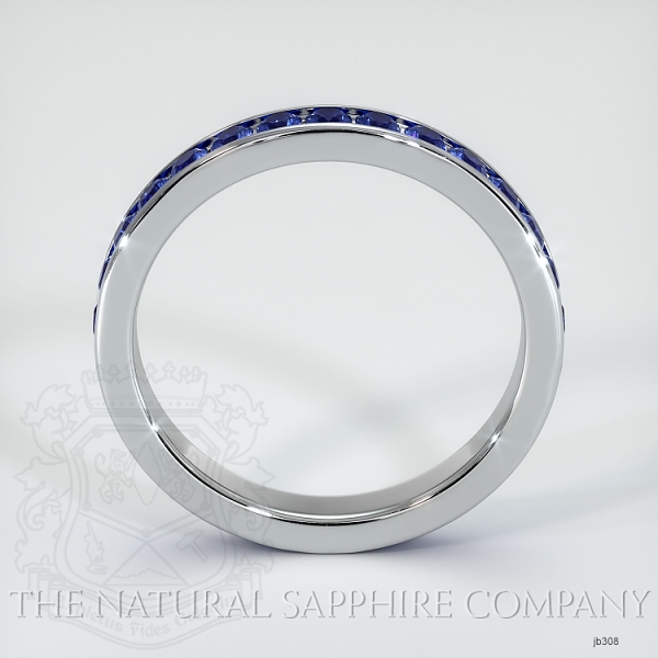 Channel Set Blue Sapphire Eternity Wedding Band JB308 Image 3