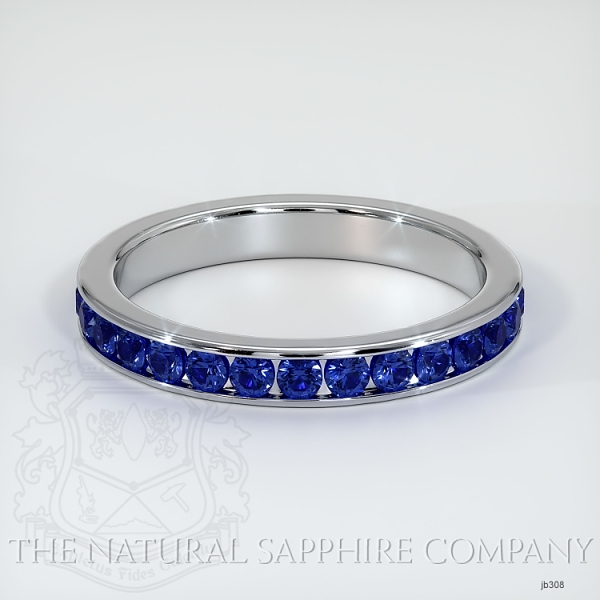 Channel Set Blue Sapphire Eternity Wedding Band JB308 Image