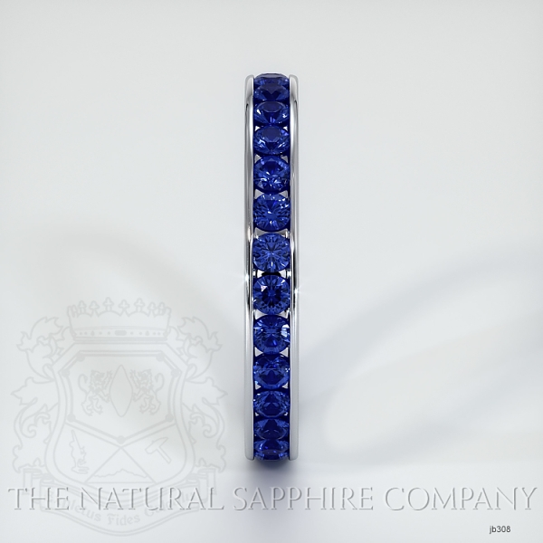 Channel Set Blue Sapphire Eternity Wedding Band JB308 Image 4