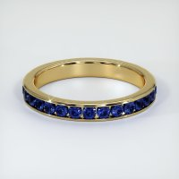 14K Yellow Gold Gemstone Band - JB308Y14