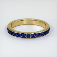 18K Yellow Gold Gemstone Band - JB308Y18