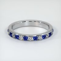 18K White Gold Gemstone Band - JB309W18