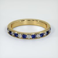 14K Yellow Gold Gemstone Band - JB309Y14