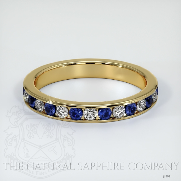 Channel Set Blue Sapphire And Diamond Eternity Wedding Band JB309 Image