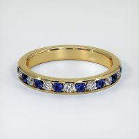 18K Yellow Gold Gemstone Band - JB309Y18