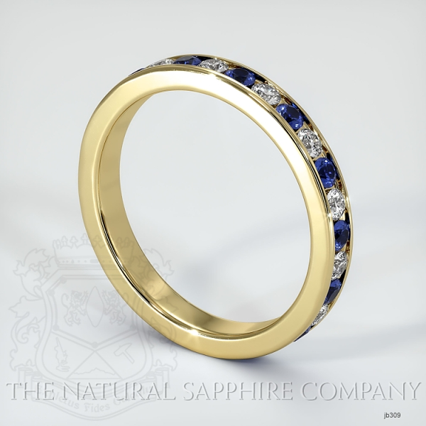 Channel Set Blue Sapphire And Diamond Eternity Wedding Band JB309 Image 2