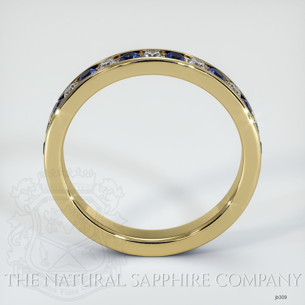 Channel Set Blue Sapphire And Diamond Eternity Wedding Band JB309 Image 3