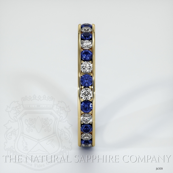 Channel Set Blue Sapphire And Diamond Eternity Wedding Band JB309 Image 4