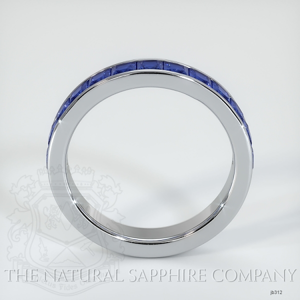 Princess Cut Channel Set Blue Sapphire Wedding Band JB312 Image 3