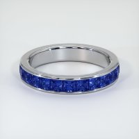 18K White Gold Gemstone Band - JB312W18