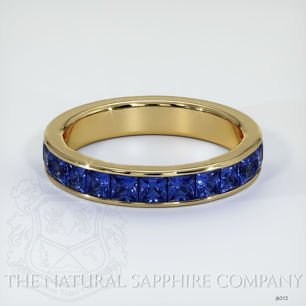 Princess Cut Channel Set Blue Sapphire Wedding Band JB312 Image