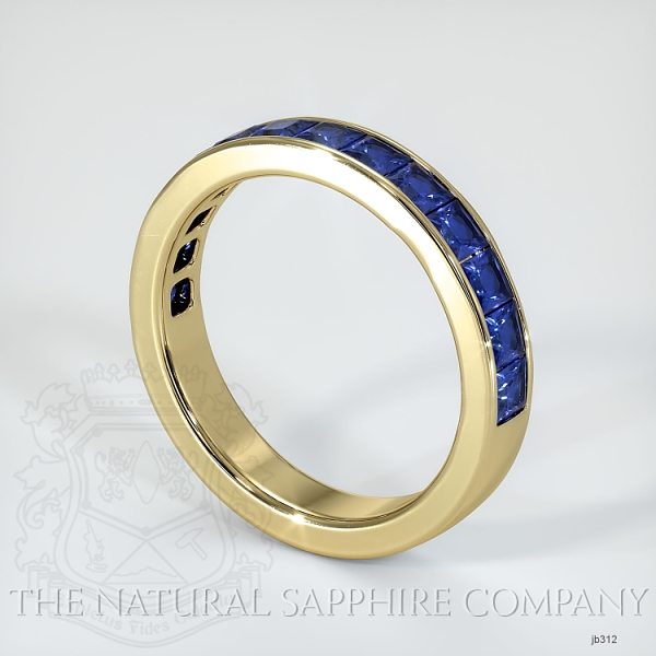 Princess Cut Channel Set Blue Sapphire Wedding Band JB312 Image 2