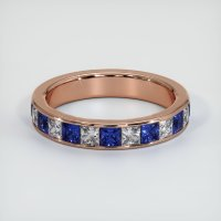14K Rose Gold Gemstone Band - JB313R14