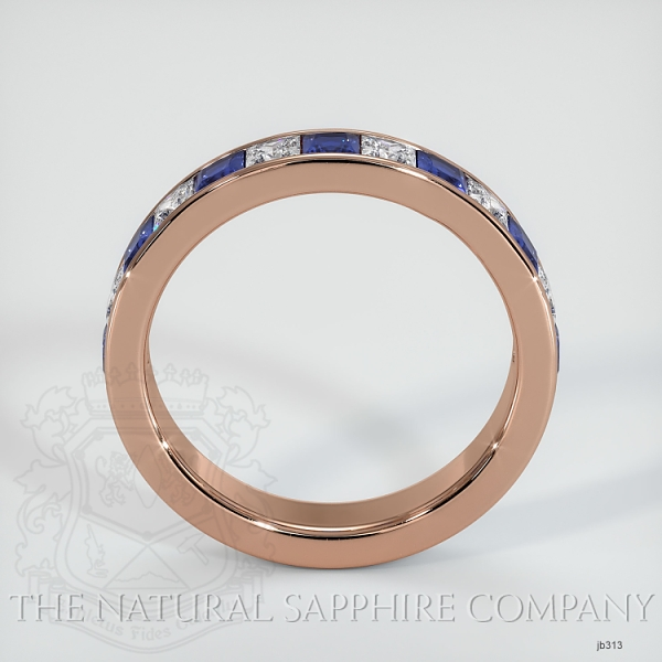 Princess Cut Channel Set Blue Sapphire And Diamond Wedding Band JB313 Image 3
