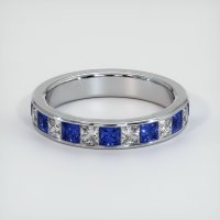 14K White Gold Gemstone Band - JB313W14