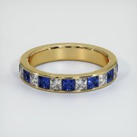 18K Yellow Gold Gemstone Band - JB313Y18