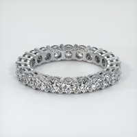 18K White Gold Gemstone Band - JB315W18