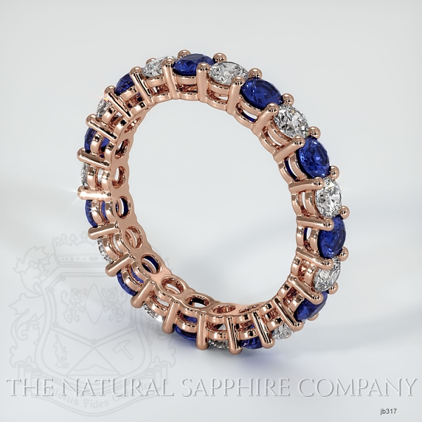 Prong Set Blue Sapphire And Diamond Eternity Wedding Band JB317 Image 2