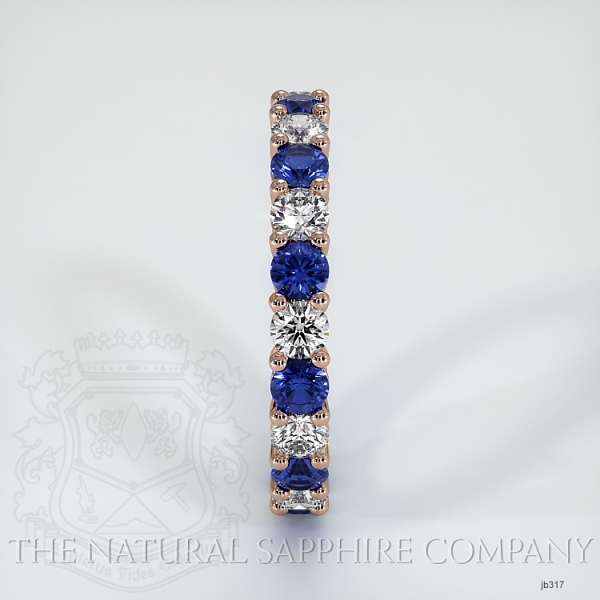 Prong Set Blue Sapphire And Diamond Eternity Wedding Band JB317 Image 4