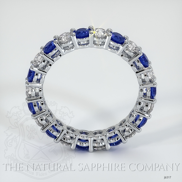 Prong Set Blue Sapphire And Diamond Eternity Wedding Band JB317 Image 3