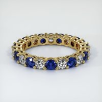 18K Yellow Gold Gemstone Band - JB317Y18