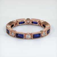 14K Rose Gold Gemstone Band - JB320R14