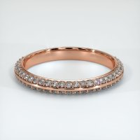 14K Rose Gold Gemstone Band - JB322R14