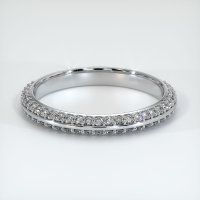 18K White Gold Gemstone Band - JB322W18