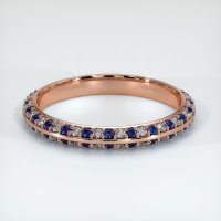 14K Rose Gold Gemstone Band - JB324R14